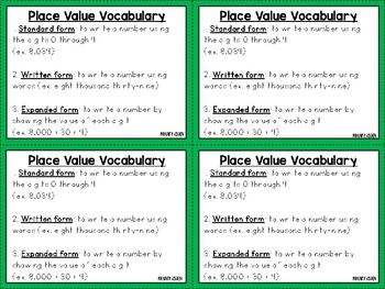 Whole Numbers Task Cards #2