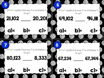 Whole Numbers Task Cards #3