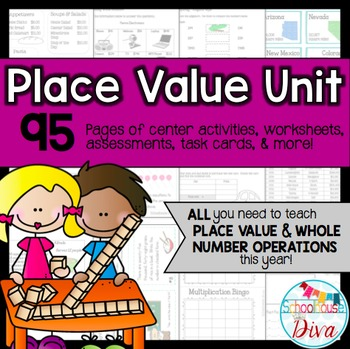Place Value Unit for 3rd and 4th Grades