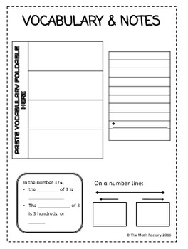 Whole Numbers and Decimals Interactive Notebook Pages