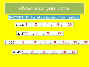 Whole Numbers and Decimals Prerequisite Skills Review