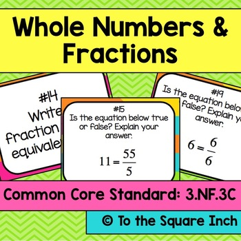 Whole Numbers and Fractions Task Cards