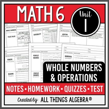 Whole Numbers and Operations (Math 6 Curriculum – Unit 1)