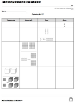 Third Grade Whole Numbers and Place Value Lessons and Activities(TEKS 3.2 (A-D)