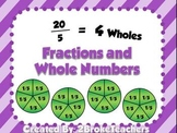 Whole Numbers as Fractions Mini Lesson PowerPoint