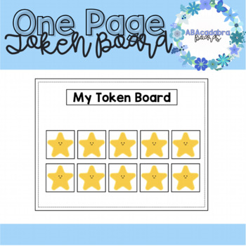 Whole Page Token Board