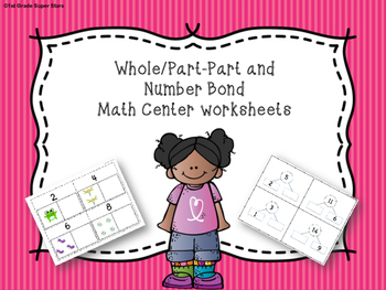 Whole Part-Part and Number Bond Math Worksheets (Numbers 1-20)