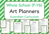 Whole School - Art Year Planners BUNDLE! (Australian Curriculum)