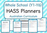 Whole School - HASS Year Planners MEGA BUNDLE! (Australian Curriculum)