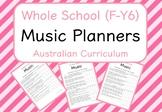 Whole School - Music Year Planners BUNDLE! (Australian Curriculum)