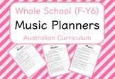 Whole School - Music Year Planners BUNDLE! (Australian Cur