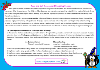 Whole School Progressive Peer and Self-assessment Mats