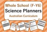 Whole School - Science Year Planners BUNDLE! (Australian Curriculum)