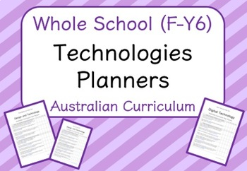 Whole School - Technologies Year Planners BUNDLE! (Australian Curriculum)