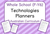 Whole School - Technologies Year Planners BUNDLE! (Austral