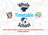 Whole School Timetable Demo