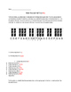 Whole Steps/ Half Steps Worksheet