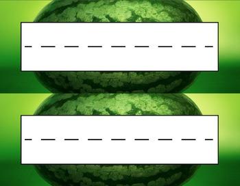 Whole Watermelon Desk Name Tag Plates Set