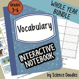Science Doodles YEAR BUNDLE Interactive Notebook Vocabulary Sets PLUS Booklet