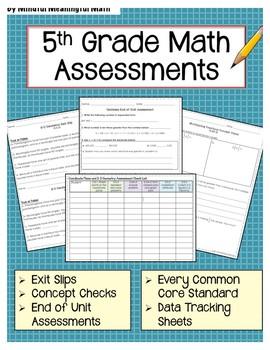 5th Grade Math Assessments - All CC Standards