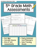 5th Grade Math Assessments & Exit Tickets - All CC Standards