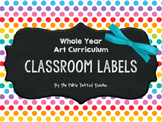 Whole Year Art Curriculum Labels