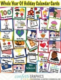 Calendar Holiday Cards Whole Year Plus Page Of Fillable Birthday Cards