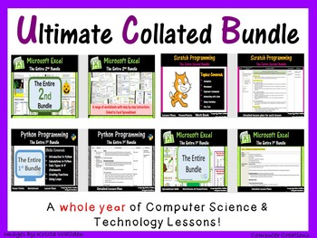 Computer & Technology Lesson Plans Bundle for Whole Year - Save $93 (ISTE 2016)