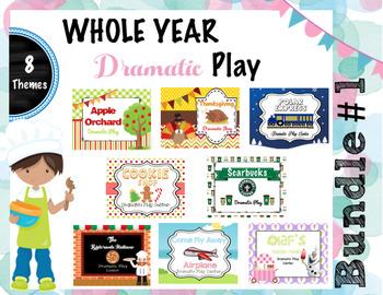 Whole Year Dramatic Play Bundle # 1