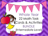 Math Task Card and Activities BUNDLE {22 Products - Intermediate}