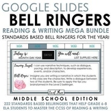 Whole Year of Bell Ringers for Middle School ELA on Google Slides