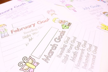 Whole Year Monthly Goals Flip Book
