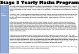 Whole Year Stage 3 Maths Program- Ready to present in prog