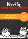 Whole Year of Grade 3 Spelling Lists
