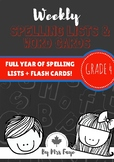 Whole Year of Grade 4 Spelling Lists and Word Cards - Cana