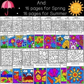 Whole Year of Seasonal Color by Sight Words BUNDLE