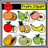 Whole and Cut Fruits Clipart