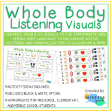 Whole Body Active Listening Visuals for Speech Therapy and