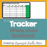 Whole class feedback: Marking schedule
