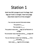 Whole number division and powers of 10 stations