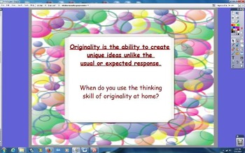 Whole or Small  Group Creative and Critical Thinking Skill
