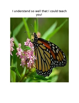 Whole page posters: Marzano learning scale using butterfly life cycle.