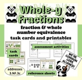 Whole-y Fractions – fraction & whole number equivalence task cards + printables