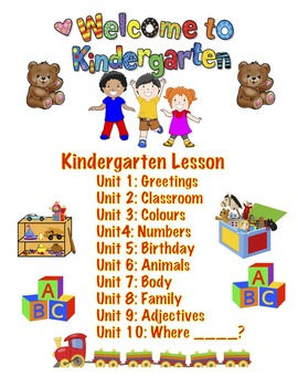 Whole year Kindergarten Lesson, After school lesson, Summe