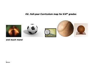 Whole - year curriculum map for K- 6th grade