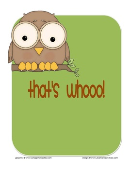 Whoo Are You? Owl Themed Getting to Know You Activity or Class Book