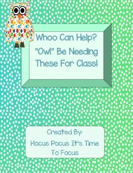 Whoo Can Help? Owl Themed Open House Donation Station Back to School B2S