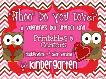 """Whoo"" Do You Love? Valentine's Day Literacy Packet"