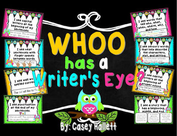 Whoo Has a Writers Eye {Owl Theme}