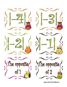 Whoo Knew?  Integers Rule! - Absolute Value and Opposites